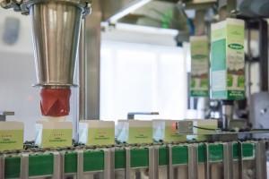 Bij productieproces yoghurt
